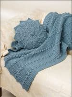 Easy Afghans & Pillows Crochet Pattern Book AA 871024 DISCONTINUED
